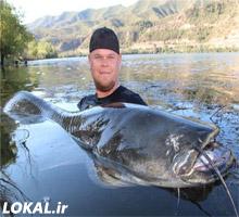 شکار 2 گربه ماهي عظيم الجثه در اسپانيا + تصویر